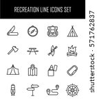 set of recreation icons in... | Shutterstock .eps vector #571762837