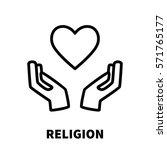religion icon or logo in modern ... | Shutterstock .eps vector #571765177