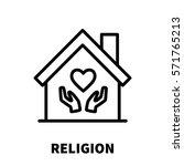 religion icon or logo in modern ...   Shutterstock .eps vector #571765213