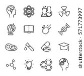 set of science icons in modern... | Shutterstock .eps vector #571773997