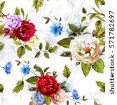 wild roses  peony  cornflowers  ... | Shutterstock .eps vector #571782697