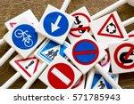 traffic signs | Shutterstock . vector #571785943