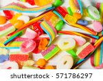Colorful Candies And Jellies A...