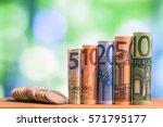 five  ten  twenty  fifty and... | Shutterstock . vector #571795177