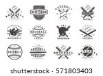 Set Of Baseball Emblems....