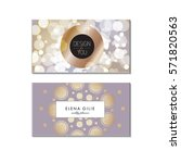 set 2 gold  business card... | Shutterstock .eps vector #571820563