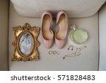 wedding accessories  photo... | Shutterstock . vector #571828483