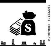 pictogram money icon.   | Shutterstock .eps vector #571832053