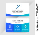 template of business card for... | Shutterstock .eps vector #571847437