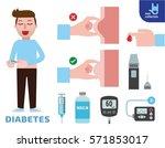 diabetics injection treat... | Shutterstock .eps vector #571853017