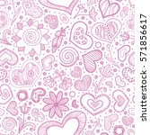 valentines day card ornate... | Shutterstock .eps vector #571856617
