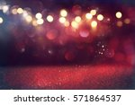 red glitter vintage lights... | Shutterstock . vector #571864537