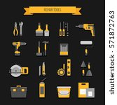 home repair icon. construction... | Shutterstock .eps vector #571872763