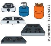 vector set of gas stove | Shutterstock .eps vector #571876513