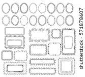 set of hand drawn vector frames | Shutterstock .eps vector #571878607