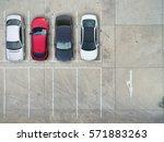 empty parking lots  aerial view. | Shutterstock . vector #571883263