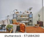corner sofa loft concept  | Shutterstock . vector #571884283