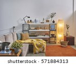 corner sofa loft concept  | Shutterstock . vector #571884313