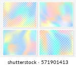 holographic backgrounds set.... | Shutterstock .eps vector #571901413