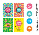 web banners and sale posters.... | Shutterstock .eps vector #571902757