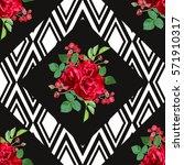 elegant seamless pattern with... | Shutterstock .eps vector #571910317