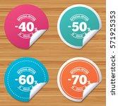 round stickers or website... | Shutterstock . vector #571925353