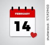 14 february  valentine's day    ... | Shutterstock .eps vector #571929433