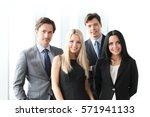 happy business team of... | Shutterstock . vector #571941133