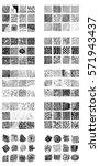 monochrome hipster prints ... | Shutterstock .eps vector #571943437