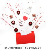 styled photo of valentine's day ... | Shutterstock . vector #571952197