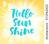 hello sunshine vector lettering