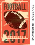 american football typographical ... | Shutterstock .eps vector #571967713