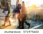 silhouettes of business people... | Shutterstock . vector #571975603