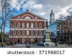 faneuil hall   boston ...   Shutterstock . vector #571988017