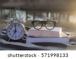 a vintage metal alarm clock ...   Shutterstock . vector #571998133