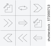 arrows icons. upstairs ...
