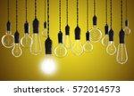 teamwork and innovation concept ...   Shutterstock . vector #572014573