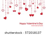 greeting card for valentines... | Shutterstock . vector #572018137