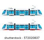 municipal electric tram vector... | Shutterstock .eps vector #572020837