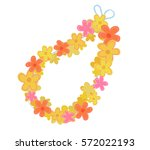 Cartoon Lei Flowers Necklace.