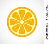 orange sliced vector icon...   Shutterstock .eps vector #572033953