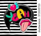 fashion patch badges elements... | Shutterstock .eps vector #572035723