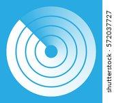 radar abstract icon symbol...   Shutterstock .eps vector #572037727