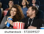 movies with my girl. bearded... | Shutterstock . vector #572039527