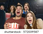 horrified spectators. scared... | Shutterstock . vector #572039587
