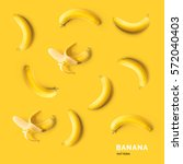 seamless pattern with bananas.... | Shutterstock . vector #572040403