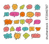 big set of comic bubbles with... | Shutterstock .eps vector #572040787