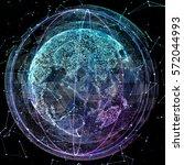 digital world. computer...   Shutterstock . vector #572044993