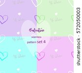 set of be my valentine... | Shutterstock .eps vector #572050003