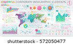 colorful corporate infographic... | Shutterstock .eps vector #572050477